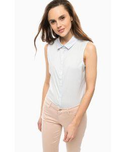 Vero Moda | Голубая Хлопковая Рубашка Без Рукавов