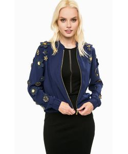 Michael Michael Kors | Легкая Синяя Куртка На Молнии С Декором