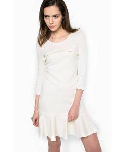 Patrizia Pepe | Короткое Платье Из Вискозы Молочного Цвета