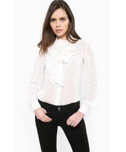 Guess | Полупрозрачная Блуза На Пуговицах