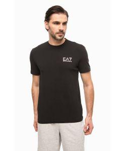 EA7 | Черная Футболка С Логотипом Бренда