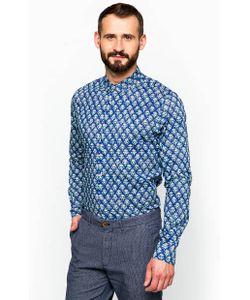 SCOTCH & SODA | Хлопковая Рубашка Синего Цвета С Длинными Рукавами