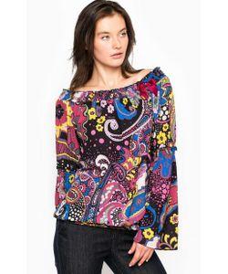 Fornarina | Блуза Из Полиэстера С Широким Вырезом На Резинке