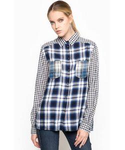 Diesel | Синяя Рубашка В Клетку Свободного Кроя Из Вискозы Полиэстера И Хлопка