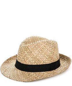 R.Mountain   Соломенная Шляпа С Черной Лентой