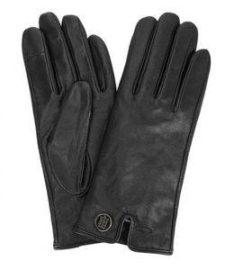 Tommy Hilfiger | Черные Кожаные Перчатки С Шерстяной Подкладкой