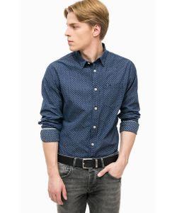 Pepe Jeans London | Синяя Хлопковая Рубашка С Карманом