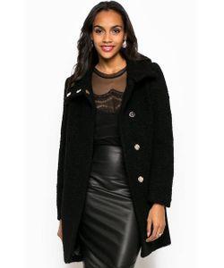 Guess | Шерстяное Однотонное Пальто На Кнопках