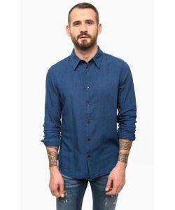 Gas | Синяя Хлопковая Рубашка С Длинными Рукавами