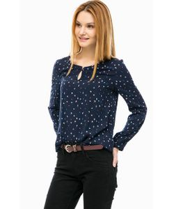 s.Oliver | Синяя Блуза Из Вискозы На Пуговице