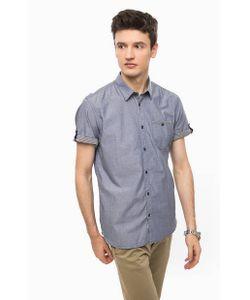 TOM TAILOR | Синяя Рубашка Из Хлопка С Карманом
