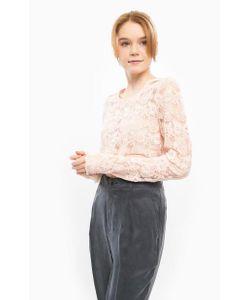 ICHI | Полупрозрачная Блуза С Вышивкой