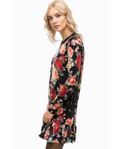 Twin-Set Simona Barbieri | Короткое Шерстяное Платье С Цветочным Принтом
