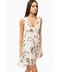 Guess   Шелковое Платье С Цветочным Принтом