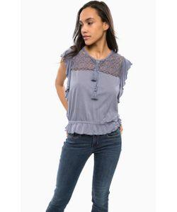 Guess | Блуза Синего Цвета С Короткими Рукавами