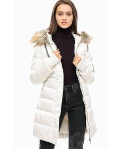 Calvin Klein Jeans   Длинный Зимний Пуховик С Меховой Отделкой