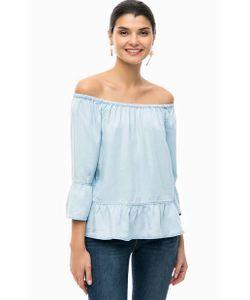 s.Oliver | Синяя Блуза Из Лиоцелла С Открытыми Плечами