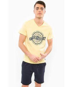 Blend | Желтая Футболка Из Хлопка