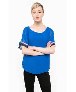 TOM TAILOR | Синяя Блуза С Контрастными Вставками