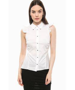 Guess   Хлопковая Рубашка С Металлическим Декором На Воротнике
