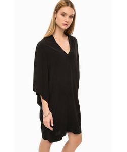 DRYKORN | Короткое Черное Платье Свободного Кроя