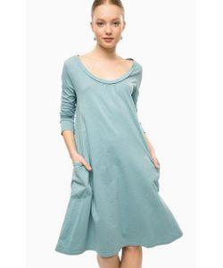 Think Chic | Бирюзовое Платье Из Хлопка С Длинными Рукавами