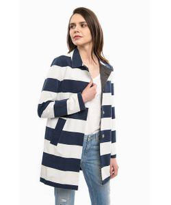 Liu •Jo Jeans | Пальто В Широкую Полоску С Отложным Воротничком