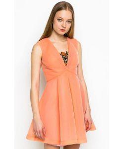 Pinko | Короткое Платье Кораллового Цвета