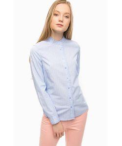 s.Oliver | Синяя Хлопковая Рубашка В Полоску