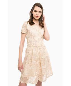 Liu •Jo Jeans   Кружевное Платье Бежевого Цвета