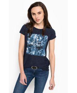 Calvin Klein Jeans | Синяя Футболка С Круглым Вырезом