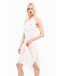 MET | Платье На Пуговицах С Кружевной Нашивкой