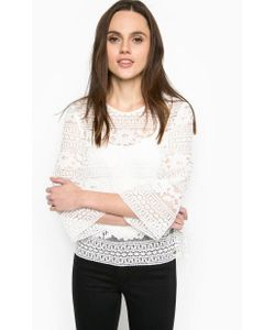 Trussardi Jeans | Ажурная Блуза Свободного Кроя