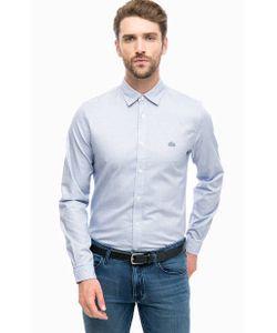 Lacoste | Синяя Хлопковая Рубашка С Длинными Рукавами