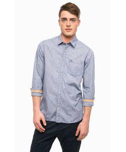 s.Oliver | Синяя Приталенная Рубашка Из Хлопка
