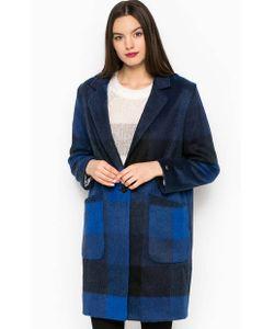 Tommy Hilfiger | Синее Пальто Из Акрила В Клетку