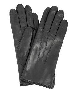 Bartoc | Кожаные Черные Перчатки С Шерстяной Подкладкой