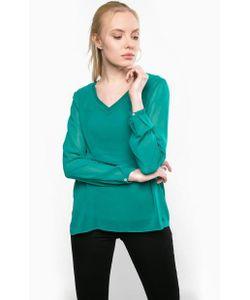 TOM TAILOR | Зеленая Блуза С Трикотажной Подкладкой