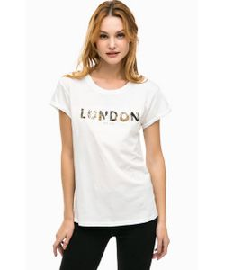Pepe Jeans London | Хлопковая Футболка С Декоративной Отделкой