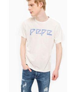 Pepe Jeans | Белая Хлопковая Футболка