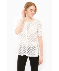 ICHI | Полупрозрачная Блуза С Короткими Рукавами