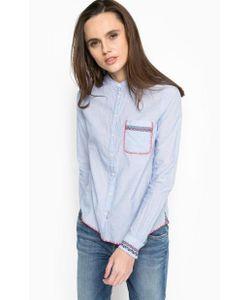Pepe Jeans | Голубая Рубашка С Вышивкой