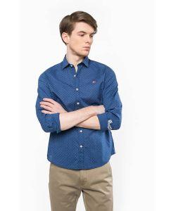 Napapijri | Синяя Приталенная Рубашка