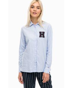 Tommy Hilfiger   Рубашка Из Хлопка С Пуговицами По Бокам