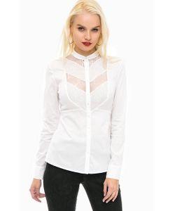 Guess   Рубашка С Кружевными Вставками