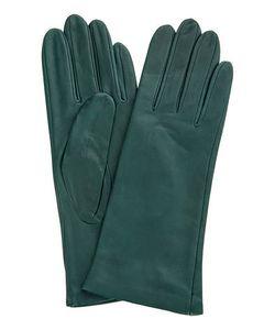 Eleganzza | Кожаные Перчатки Зеленого Цвета