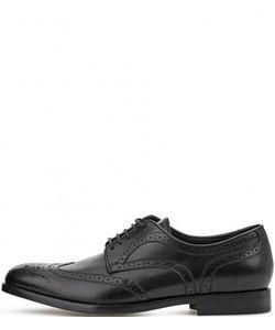 Geox | Черные Кожаные Туфли На Шнуровке