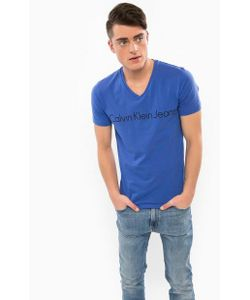 Calvin Klein Jeans | Хлопковая Футболка С Треугольным Вырезом