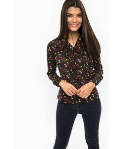 Sugarhill Boutique | Черная Блуза С Контрастным Принтом