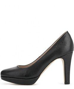 s.Oliver | Черные Туфли На Каблуке